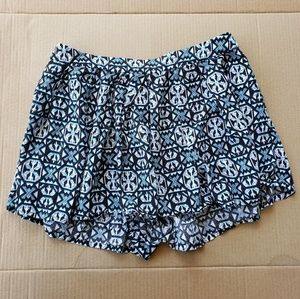 Forever 21 Patterned Zip Up Shorts